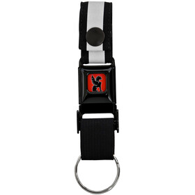 """Chrome Mini Buckle Keychain Black/Black"""